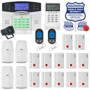 Sistema de seguridad para el hogar inalámbrica LCD Alarma Antirrobo casa marcador de línea de teléfono VoIP Fd
