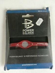POWER-BALANCE-ROUGE-TAILLE-M-19cm-NEUF-bracelet-sport