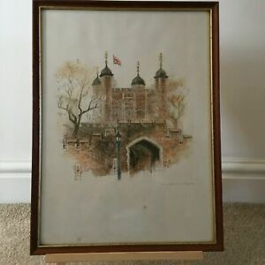 Vintage-1970-s-Mads-Stage-Print-of-The-Tower-of-London