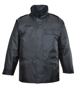 Portwest S534 Security Jacket Security Rainwear Warm Waterproof Workwear