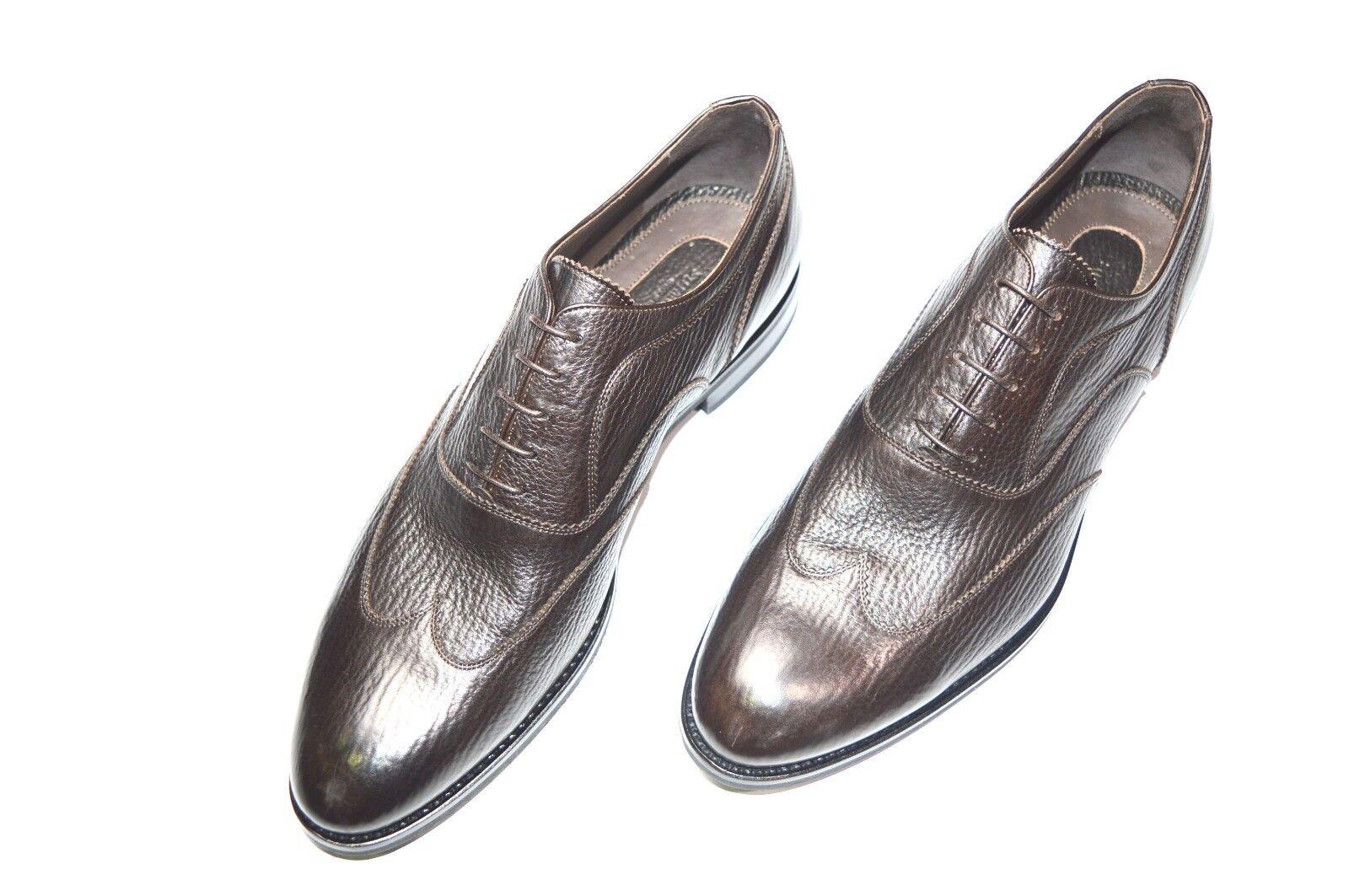 Nuevo De Lujo Cuero STEFANO RICCI Zapatos Talla nos 12 (COD T40)