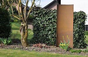 Stahl Wand Stahlwand Gartenwand Sichtschutz 60 X 150 Cm Massiv 5mm