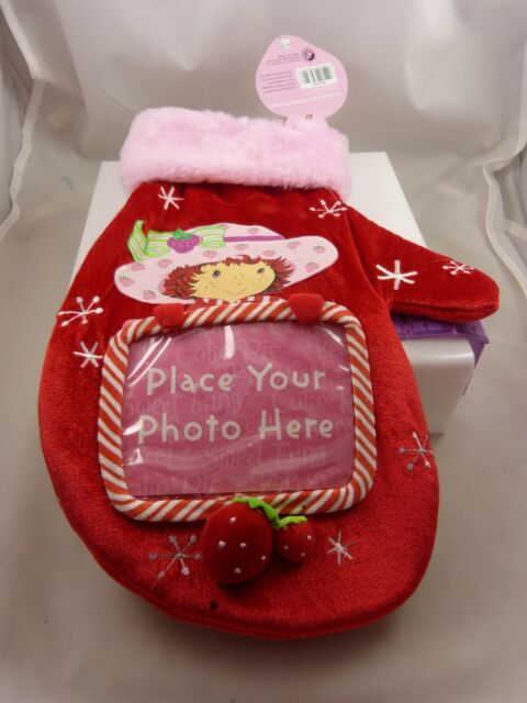 Strawberry Straw berry shortcake Christmas Stocking mitten room for photo