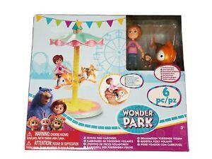 Wonder Park Flying Fish Carousel - 6 pc Ages 3+ Bonus June and Peanut