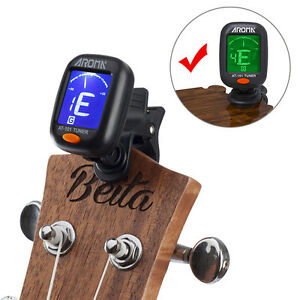 Digital-Chromatic-LCD-Clip-On-Electric-Tuner-for-Bass-Guitar-Ukulele-Violin-US