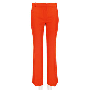 Stella-McCartney-Vibrant-Orange-Straight-Leg-Trousers-Pants-IT40-UK8