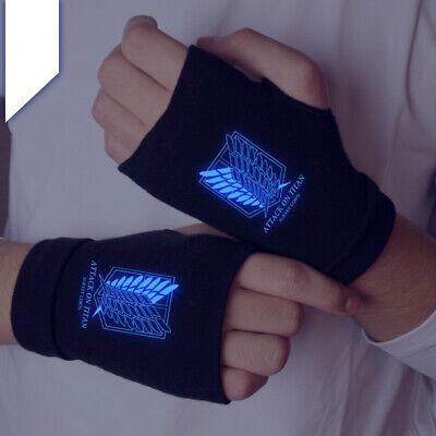 Attack on Titan mitten Japan anime cosplay Fingerless luminous gloves otaku