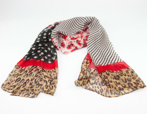 Spot Polka Dot Leopard Spotted Spotty Crinkled Fashion Scarf Hijab Casual Shawl