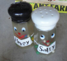 Lot of  Vintage 1960s Plastic Salt and Pepper Shaker Toys LOOK