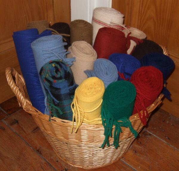 100% Escocés Lambswool Bufanda. Amarillo, Verde, Azul, Marrón, Beige, Marrón, Rojo, Tartán.-rforce Blue,brown,rust,tartan Plaidver