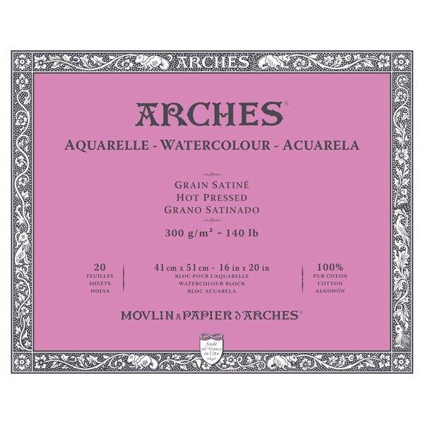 "140lb Cold Press 20 Sheets Arches Watercolor Block 16/""/""x20/""/"""