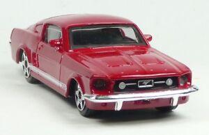 Nuevo-1964-Ford-Mustang-modelo-de-coleccionista-rojo-oscuro-aproximadamente-1-43-productos-nuevos-de