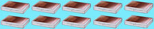 10 ULTRA PRO 25 COUNT CLEAR HINGED CARD STORAGE BOXES Case Holder Sports Trading