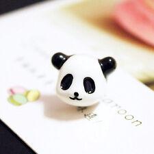 Fashion Korean Style Full 3D Solid Face Black white Panda Stud Earring animal q