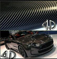 5 Feet × 10 Feet  Premium 4D Gloss Black Carbon Fiber Vinyl Wrap Bubble Free