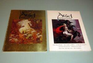 2-Books-ARIEL-FANTASY-SCIENCE-FICTION-Frazetta-Bruce-Jones-Ellison-Ray-Bradbury