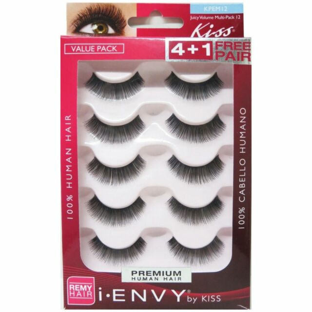 d72415b311b I-envy by Kiss Juicy Multi-pack 12 Black Strip Eyelashes Kpem12 for ...