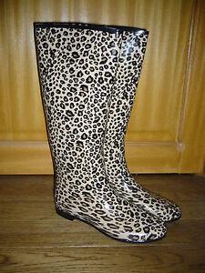 Détails sur bottes de pluie caoutchouc P41 léopard,neuves