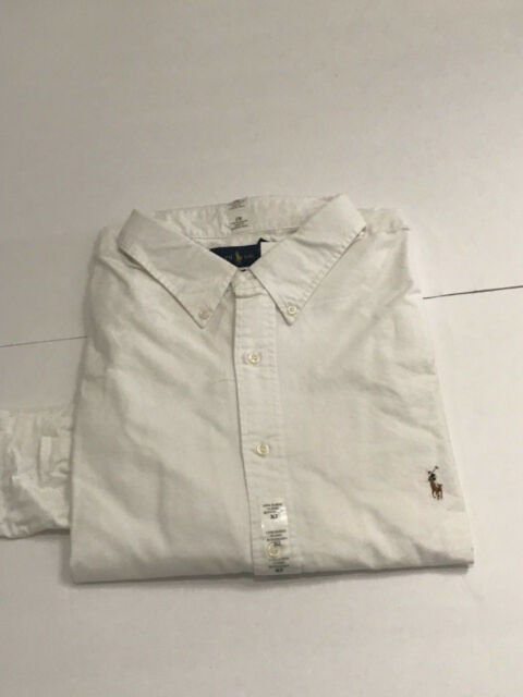 Lauren Small Ralph Pony 3xlt Fit White Tall Classic Blue Shirt Polo Oxford wklXTOPuZi