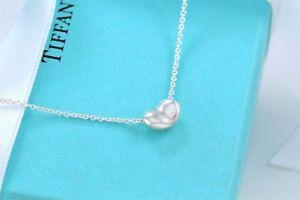 803256ed4 Tiffany & Co Sterling Silver Elsa Peretti Mini Bean Pendant Necklace ...
