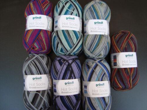 Wolle Strickwolle Bastelwolle  Sockenwolle 6 Fach Arosa von Gründl