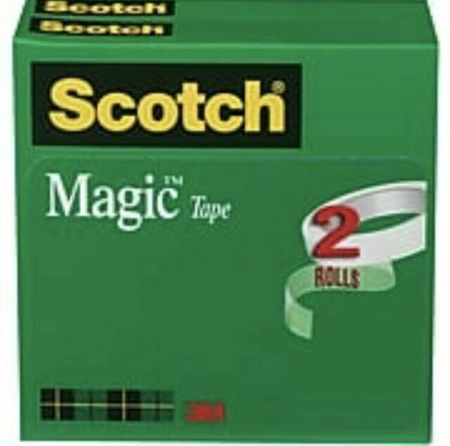 "12 Magic invisible Tape  3//4/""x1000/""  1inch Core Matte finish Bulk Pack Rolls NEW"