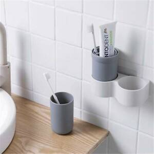 Wall-Mounted-Bathroom-Toothbrush-Toothpaste-Holder-Storage-Box-Case-Container-LD