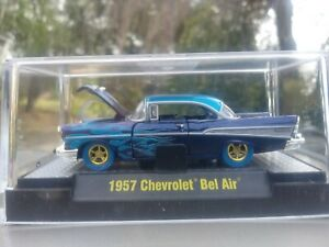 M2-Machines-Seattle-1of10-1957-57-Chevy-Bel-Air-Flames-Ralphs-Kustoms-1-64-Chase
