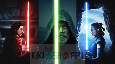 Poster 42x24 cm Star Wars XVIII EL Ultimo Jedi Kylo Ren The Last Jedi Decor 02
