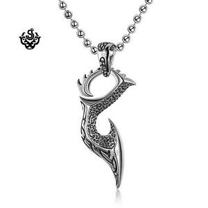 Silver sword evil blade knife pendant stainless steel necklace soft image is loading silver sword evil blade knife pendant stainless steel aloadofball Images