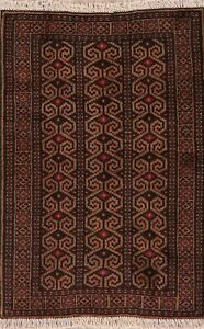 Geometric-Oriental-Hand-Knotted-Balouch-Afghan-Area-Rug-Home-Decor-Carpet-3-039-x4-039