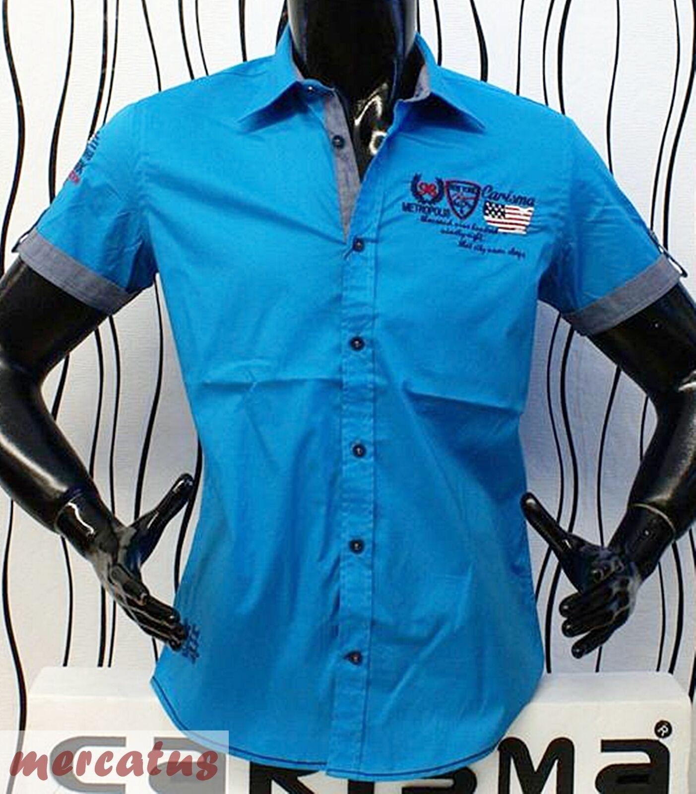 Brandneu     Designer Kurzarm-Hemd von CARISMA in 3 Farben CRM9063