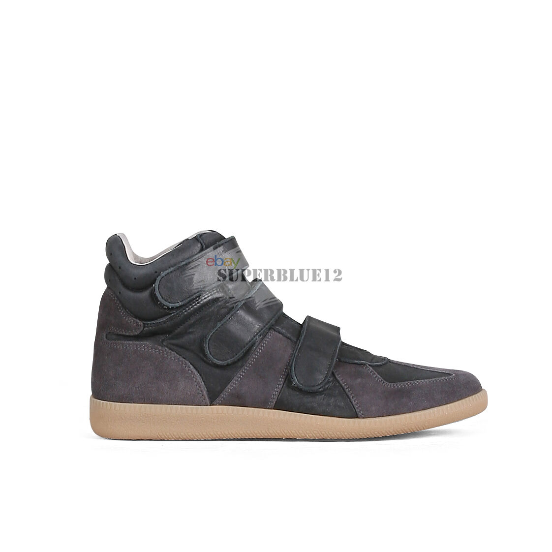 MAISON MARTIN MARGIELA GERMAN ARMY TRAINERS HIGH TOP SNEAKERS
