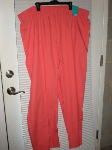 Landau Eased Fit Scrub Pants Coral Size 5XL New