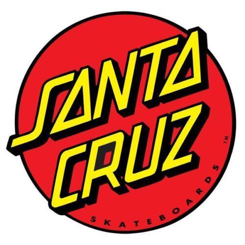 New Santa Cruz Classic Dot 6in Red Decal Sticker