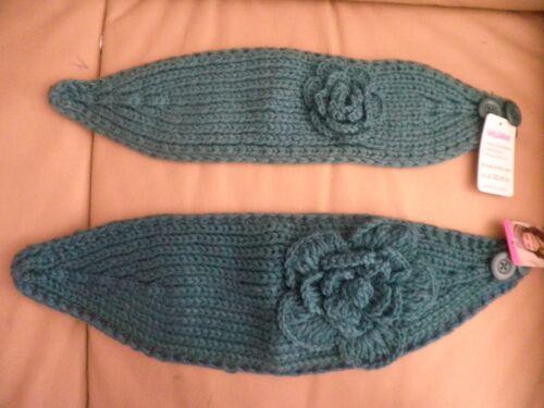 Women Winter Flower Crochet Knit Head wrap Headband Ear warmer muffs US SELLER