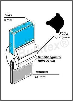 für US Airstream Wohnwagen Bulktex® Universal Dichtung Scheibengummi 6//2,5 pass