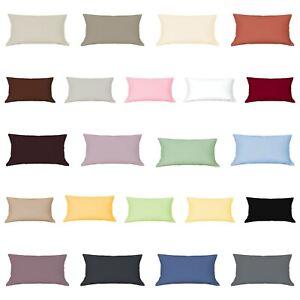Mako-Satin-Kissenbezug-50-x-90-cm-Kissenhulle-Kopfkissen-Hulle-Uni-100-Baumwolle