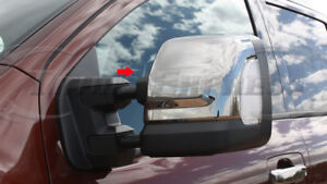 For-2016-2019-Nissan-Titan-Chrome-Door-Tow-Towing-Top-Mirror-Covers-2Pc-w-cutout