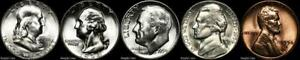 1954-S-Mint-Set-BU-Uncirculated-Silver-US-Coin-Lot-San-Francisco