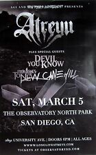 ATREYU/DEVIL YOU KNOW/FROM ASHES TO NEW 2016 SAN DIEGO CONCERT TOUR POSTER-Metal