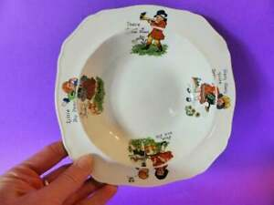 1930-039-s-Nursery-Ware-Bowl-Alfred-Meakin-Pottery-Vintage-Children-039-s-Bowl
