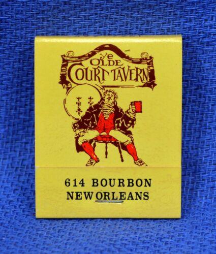"""Vintage /""""Ye Olde Court Tavern/"""" New Orleans,LA Matchbook *FULL"""