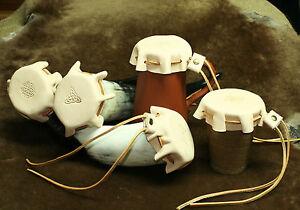 Trinkhorn-Abdeckung-Deckel-Leder-Insektenschutz-Keltische-Knoten-Wikinger
