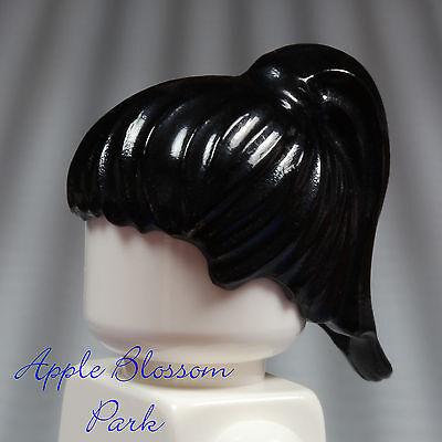NEW Lego Female Minifig BLACK HAIR - Girl Friends Short Head Gear w/Ponytail