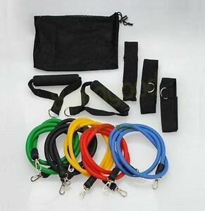Resistance-bands-11-pcs-Fitness-Exercise-Latex-Tube-yoga-workout-abs