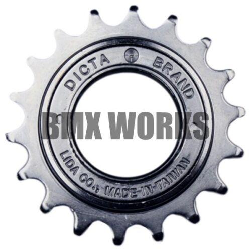 Dicta Freewheels 14T-15T-16T-17T-18T-20T Chrome Brown or Black Old School BMX
