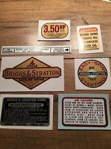 Briggs-amp-Stratton-1961-1963-decal-Aluminum-3-50-hp-Vertical-shaft-Set-of-7