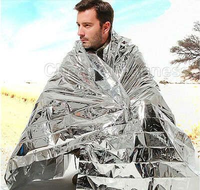 1 pc Emergency Solar Blanket Survival Safety Insulating Mylar Thermal Heat US MO