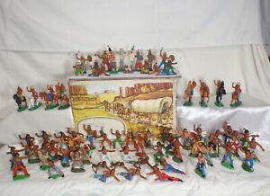 1-Vintage-rare-Collection-Rubber-Indians-GDR-Germany-70-039-s-66pcs-in-the-Box